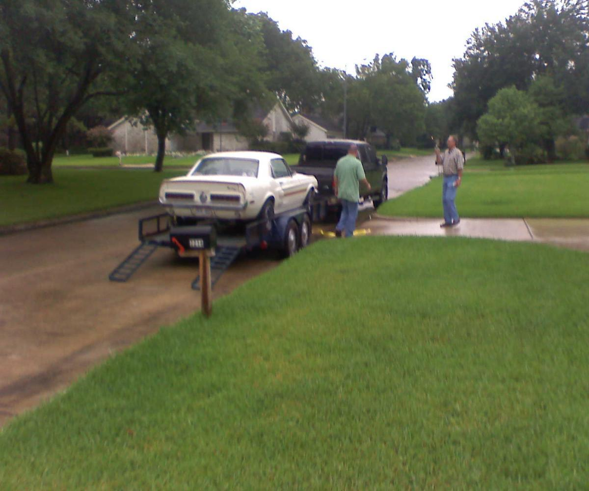 Picking Up 68 White/Red Special in Houston-July 2008