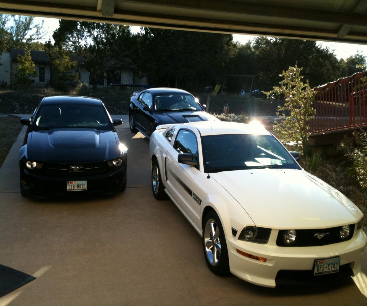 3 of my 4 Stangs, '99 is my daughters, 2012 is my wife's