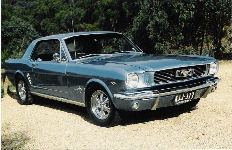 1966 Silver Blue Mustang