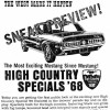 1968 High Country Special Flyer from Continental Divide Raceway, the night before the HCS went on sale to the public
